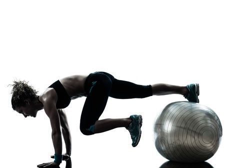 Exercise plank and ball